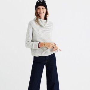 Madewell Grey Snowbound Cowl Neck Sweater